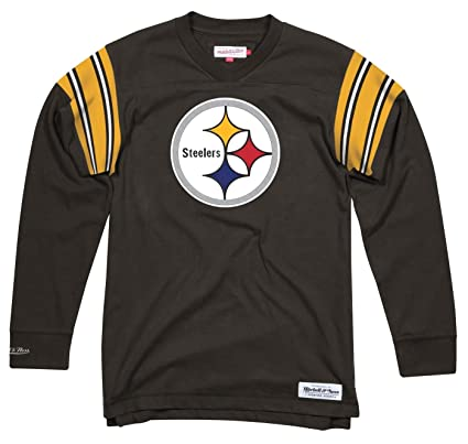 Image Unavailable. Image not available for. Color  Mitchell   Ness Pittsburgh  Steelers NFL Men s Team Captain Long Sleeve Shirt 7f00c9246
