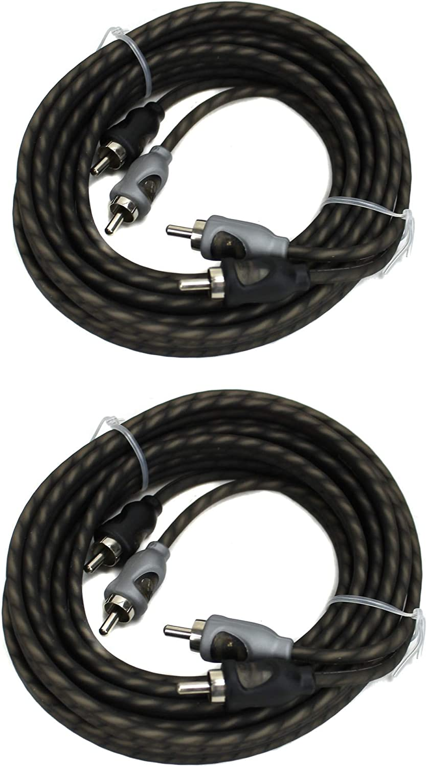 2) Rockford Fosgate RFI-10 10' Feet 2 Channel RCA Car Audio Signal Cables RFI10