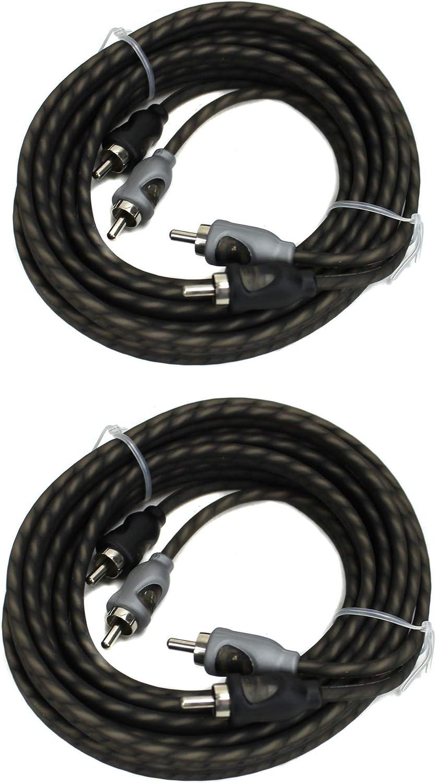 2) Rockford Fosgate RFI-10 10' Feet 2 Channel RCA Car Audio Signal Cables RFI10 61fyn6Dk5kL