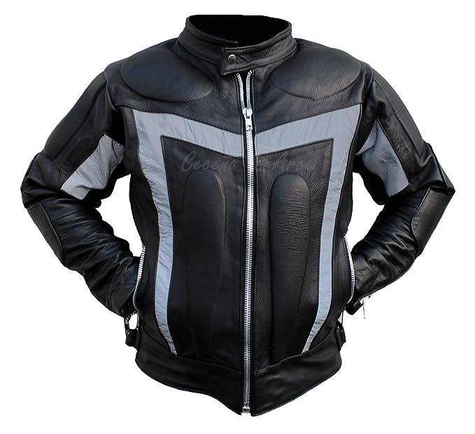 18ffbd0ce13 Ceceña   Arce Chamarras De Piel con Protecciones Motociclista Bikers Cs21  Talla XXL