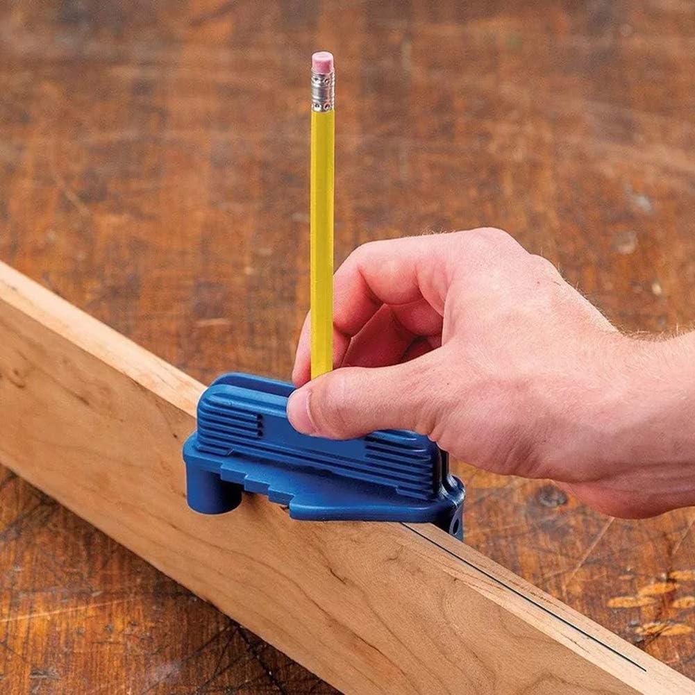 herramienta de marcado para l/ápices de madera est/ándar con parte inferior magn/ética Herramienta para marcar el centro de la carpinter/ía