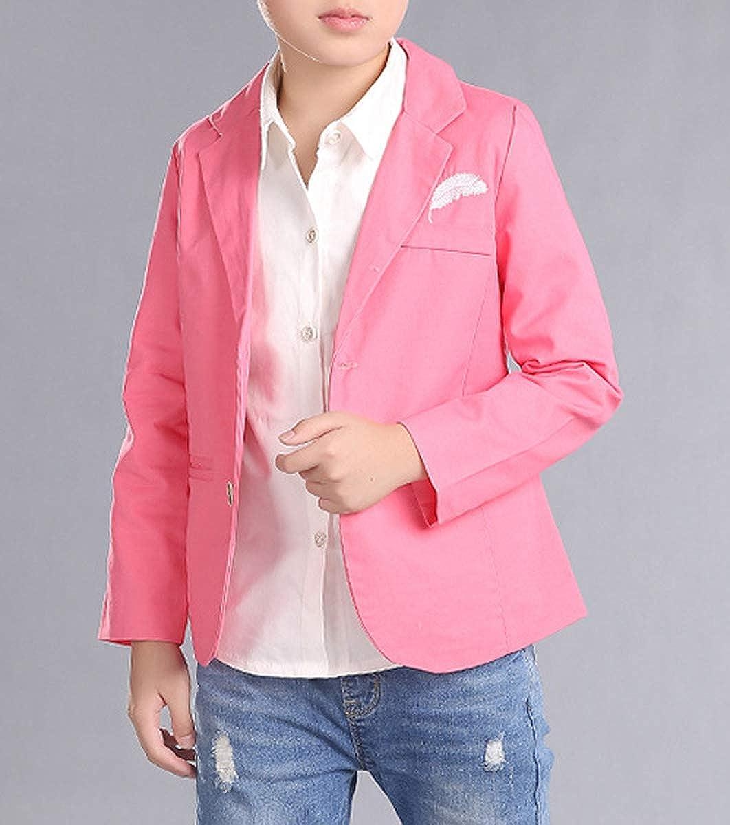 Boys Pink Blue Wedding Gentleman Formal Blazer Dress Suit Jacket