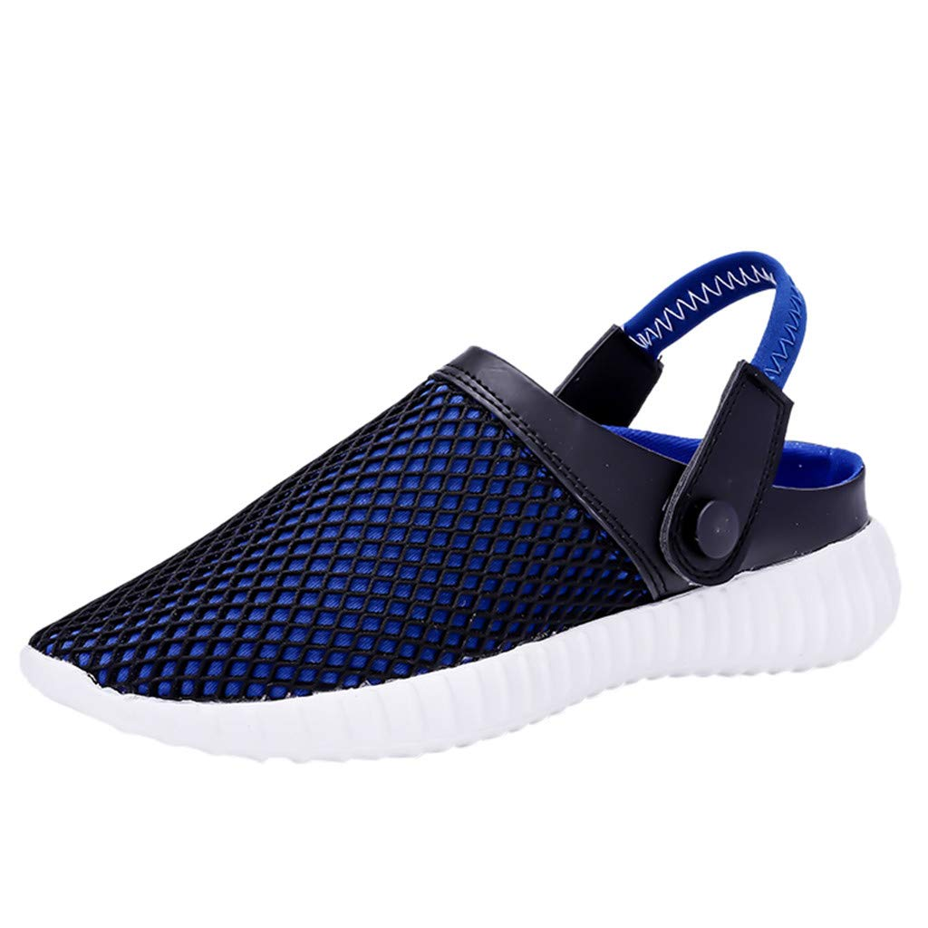 【MOHOLL】 Mens Womens Garden Clogs Slippers Lightweight Beach Walking Shoes Sandals Blue by ✪ MOHOLL Shoes ➤Clearance Sales