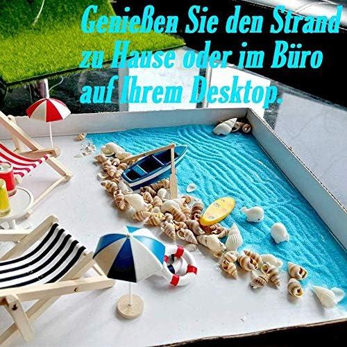 whelsara Beach Zen Garden Accesorios Mini Escritorio Sandbox Decoración Kits de Adornos de casa de muñecas en Miniatura para DIY Fairy Garden Dollhouse y decoración de Plantas richly judicious: Amazon.es: Deportes y