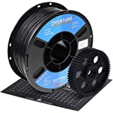 OVERTURE Nylon Filament 1.75mm with 3D Build Surface 200mm × 200mm 3D Printer Consumables, Polyamide (PA) 1kg Spool (2.2lbs),