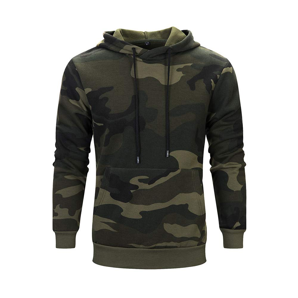 Frost`nai Fashion Men Autumn Winter Camouflage Long Sleeve Leisure Men Hoodie Sweatshirt Blouse