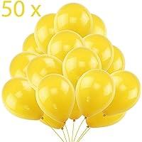 50 Globos Amarillos Brilante de Látex de 36