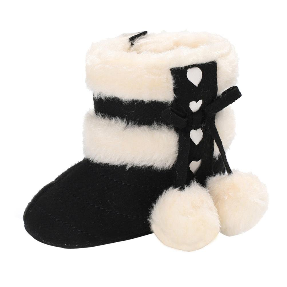 Gotd Baby Girl Boy Snow Boots Soft Sole Prewalker Shoes Ball Winter