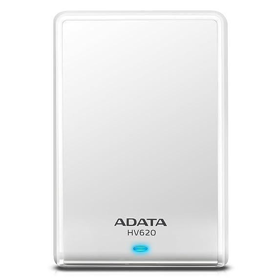 Adata HV620 1TB External Hard Drive  White  External Hard Disks