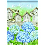 Carson Home Accents FlagTrends Classic Large Flag, Hydrangea Fence