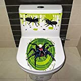Willsa Halloween Bloody Hand Toilet Cover Party Decoration Sticker Prop Scary Zombie