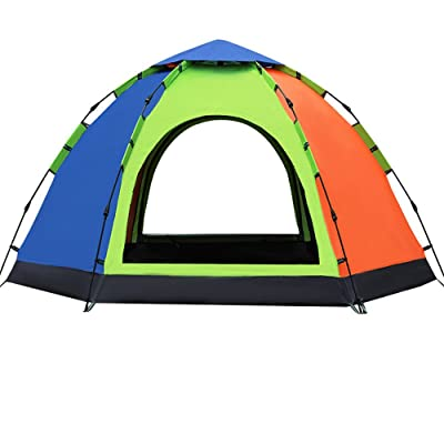 RFVBNM Tente automatique extérieure épaisse imperméable à l'eau 3-4 personnes hydraulique grande hexagonale camping tente 270 * 270 * 150 cm