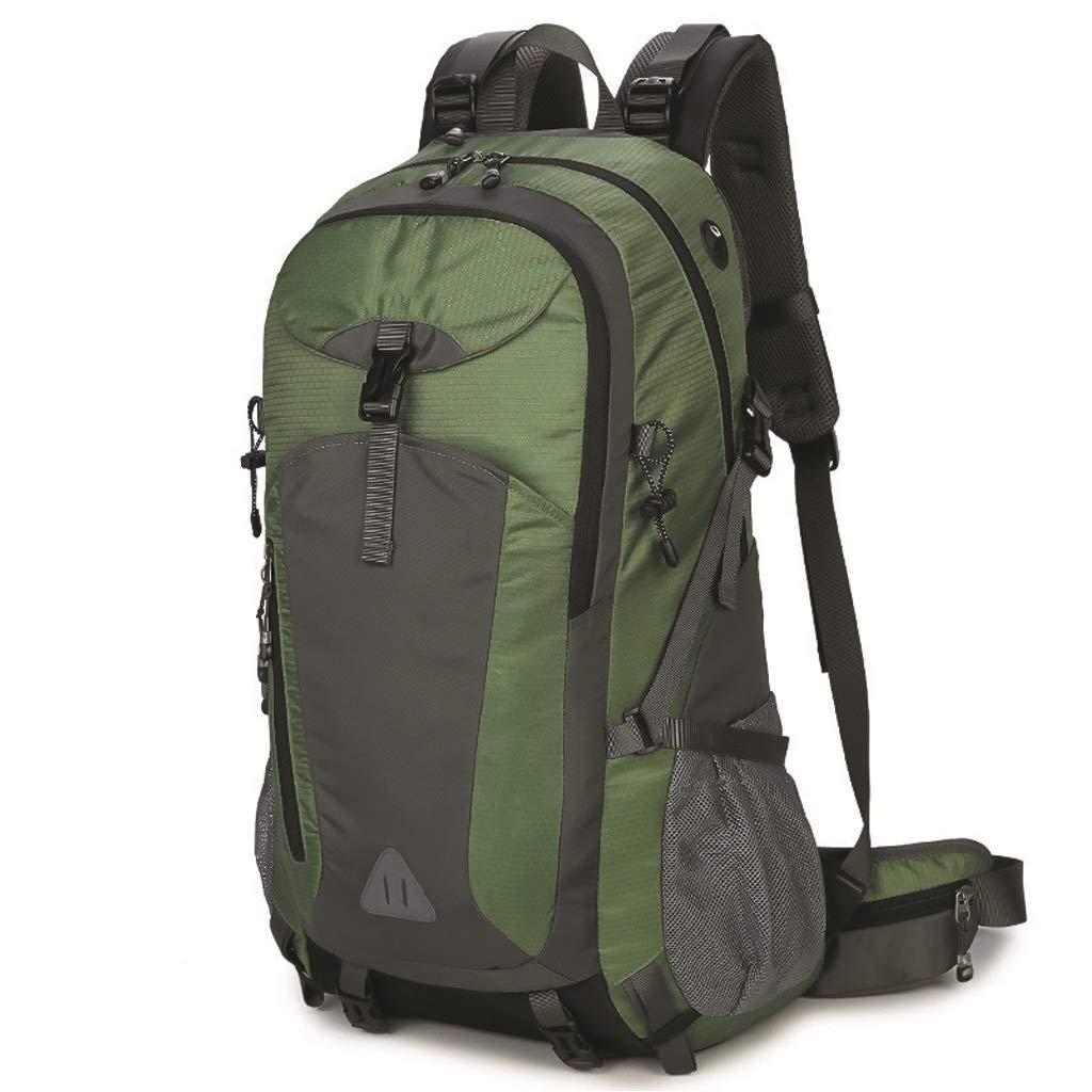 クライミングバックパック 50L 登山バッグ ショルダーバッグ メンズ&レディース トラベルバッグ ハイキング 防水バックパック (ミリタリーグリーン) (カラー:D)  A B07PTZGL7H