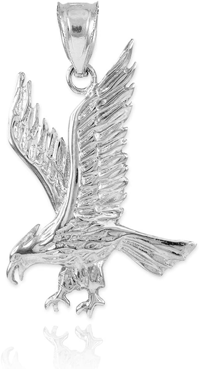 925 Sterling Silver Animal Eagle Bird Charm Pendant