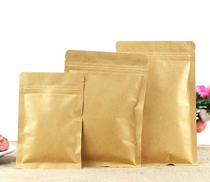 50pcs Papel Kraft bolsa de alimentos bolsas de cierre de ...