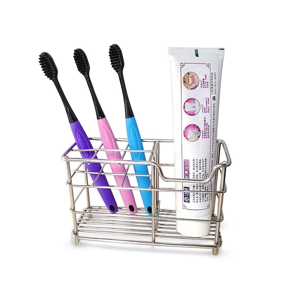BeGrit Toothbrush Holder Stand Toothpaste Holder Stainless Steel Organizer for Bathroom Vanity Countertops SW8728