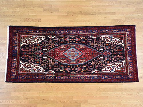 5'x11'1'' Semi Antique Persian Nahavand Hand-Knotted Wide Runner Rug G37713