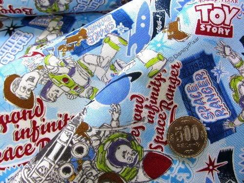 キャラクター 生地 はぎれ ハギレ 40cm トイストーリー(ブルー)#26ディズニー( 手芸 生地 キャラクター 布 ピロル )の商品画像