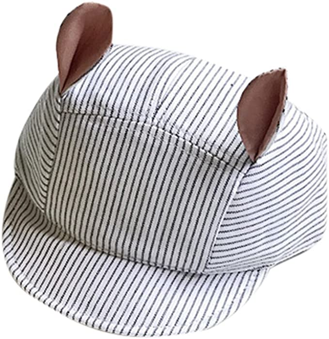 pingtr Sombrero del bebé niña y niño,Orejas de Rayas Lindas ...