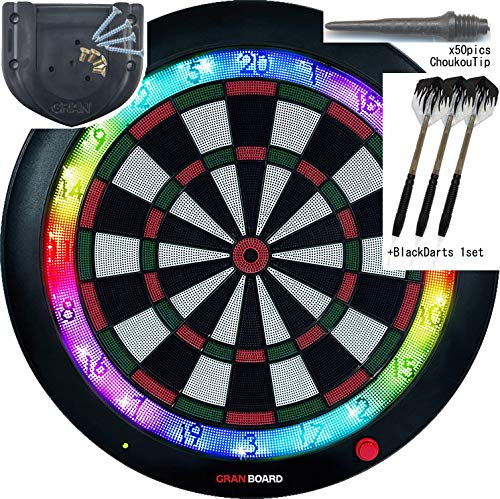 Gran Board 3 LED Bluetooth Dartboard(Green) with Special -