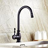 Beelee BL0729B Traditional Kitchen Faucet Single Handle without Sprayer Bar Prep Sink Faucet Single Hole Replacement Tap Brass, Oil Rubbed Bronze by Beelee