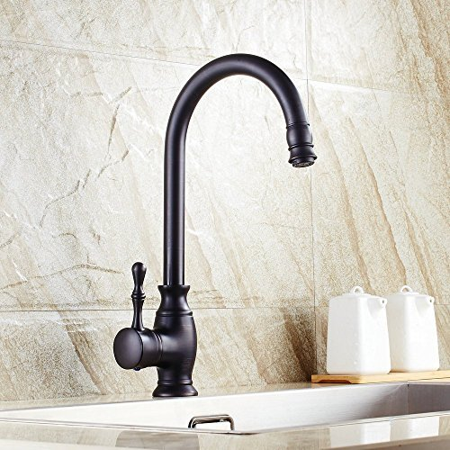 Beelee BL0729B Traditional Kitchen Faucet Single Handle without Sprayer Bar Prep Sink Faucet Single Hole Replacement Tap Brass, Oil Rubbed Bronze by Beelee by Beelee