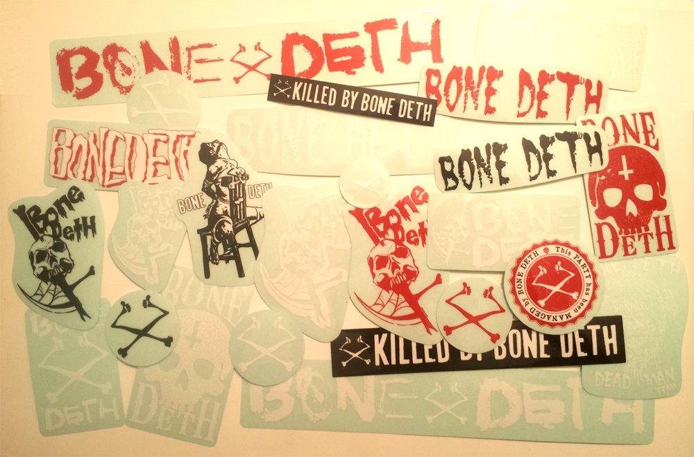 Bone Deth BMXステッカーパック – 25ステッカー – Bmxing Bikesサイクル新しいBonedeth B06XQXGP6W