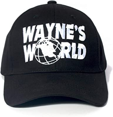 4 Styles Wayne/'s World Embroidered Party Costume Adjustable Baseball Cap Men and Women Dad Cap and FlexFit Snap Back