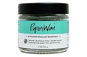 PiperWai Natural Deodorant Jar, 2 Ounce