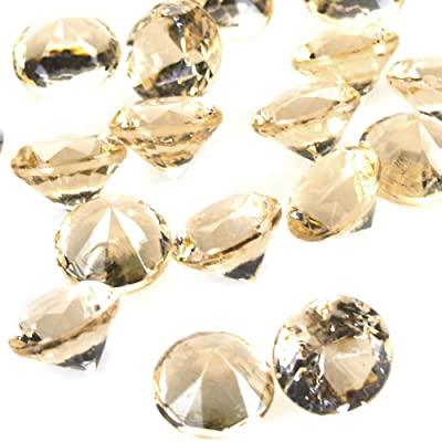 """Homeford Firefly Imports Acrylic Diamond Gemstone Table Scatter, 3/4-Inch, 240-Piece, Champagne, 3/4"""": Home & Kitchen"""