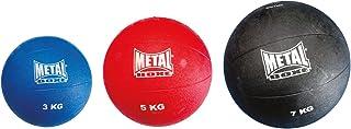 METAL BOXE Medecine Ball Caoutchouc GONFLE Mixte