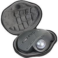 Funda de transporte de viaje protectora de EVA rígida para Logitech MX Ergo inalámbrica avanzada Trackball mouse, negro # 81508