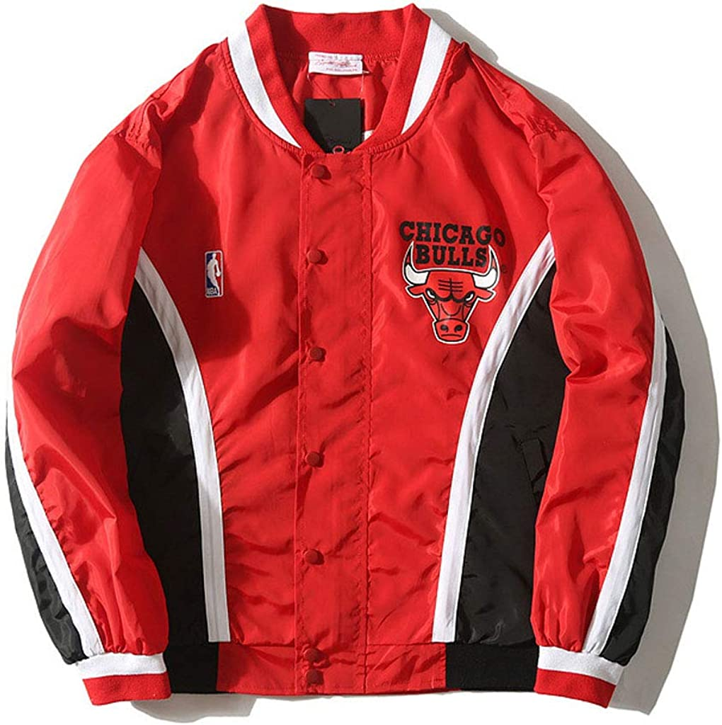 HGsports Chicago Bulls Warm Up Retro Giacca Pantaloni Rosso Bianco
