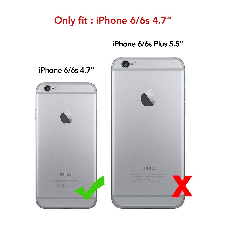 abcb0c6c31b Funda iPhone 6/6S , VRS Design [oro] Carcasa trasera transparente Slim Fit  a prueba de golpes [parachoques de cristal] Premium suave TPU parachoques  con ...