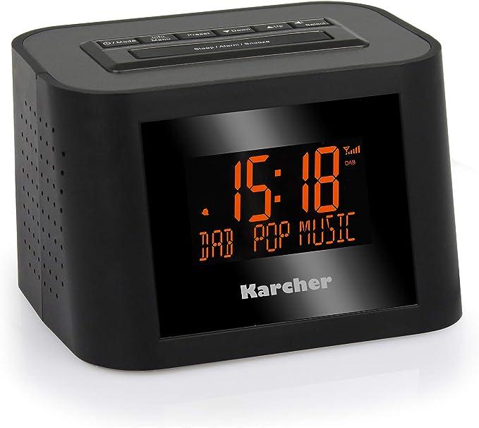 Karcher Dab 2420 Stereo Radiowecker Dab Fm Pll Mit Rds Und Senderspeicher Dimmbares Display Dual Alarm Wochenend Snooze Funktion Sleep Timer Schwarz Audio Hifi