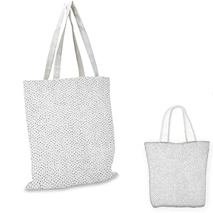 Grey and White shopping tote bag Futuristic Pattern with Small Grey Squares  and Optical Effect travel 19a36f1a312c9