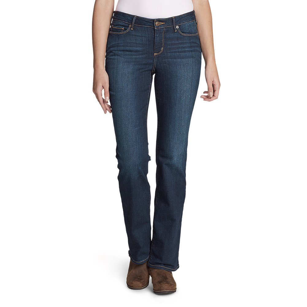 Eddie Bauer Women's StayShape Boot Cut Jeans - Slightly Curvy, Dusk Petite 14