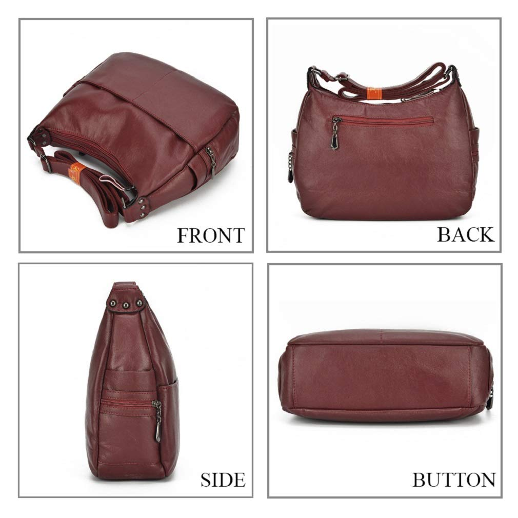 Alovhad Fashion Shoulder Tote Bags Handbag Messenger Hobo Cross Body Bags Purse Soft PU Leather Top Handle Bags for Women (Bronze-Big) by Alovhad (Image #5)