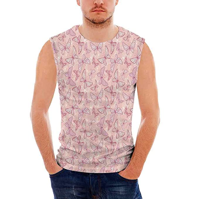 ea02c1ca8cfa Amazon.com  iPrint Mens Apparel Mens Triblend Blotter Tank Top Light Pink