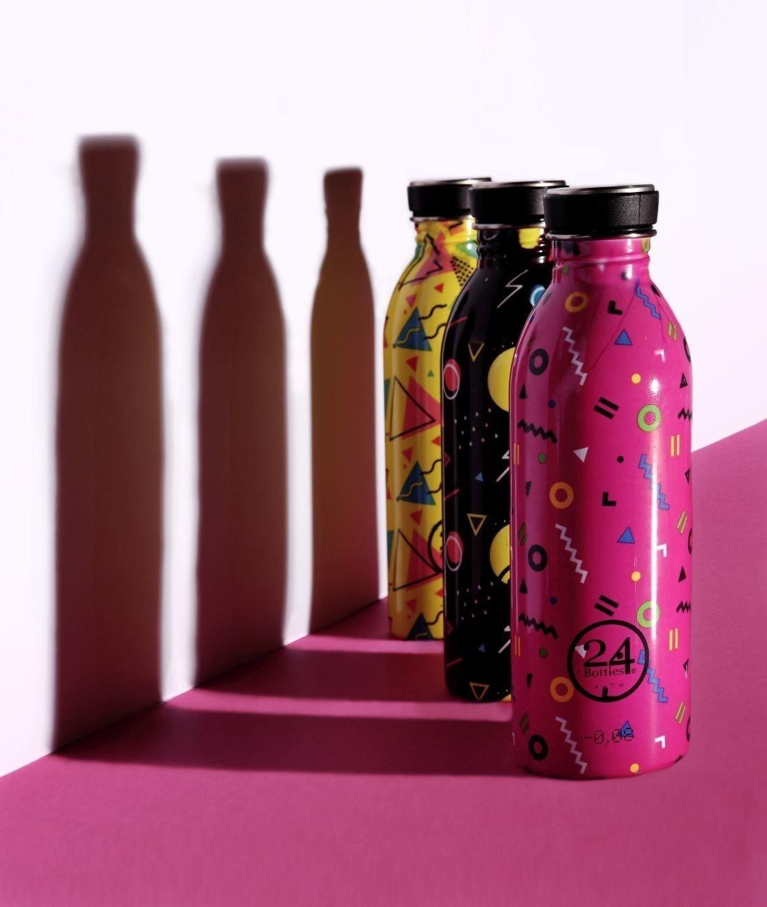 Big Bubble Yellow 500 ML 24/Bottles Collection Urban Bottle Geometric Gourde