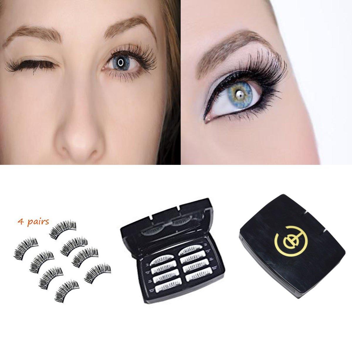Amazon 4 Pairs Natural Magnetic False Eyelashes Multipack
