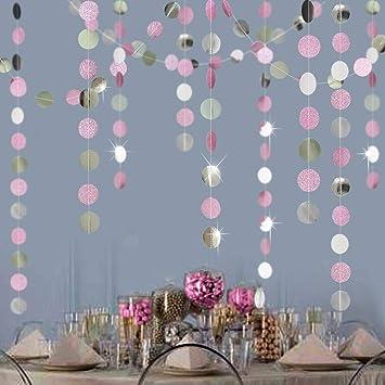 Amazon.com: Guirnalda de círculos y estrellas con purpurina ...