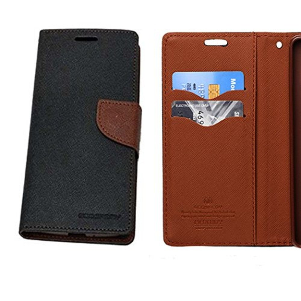 timeless design 8a1d8 2b8d1 Flip Cover for Lenovo Vibe K4 Note/Vibe X3 Lite/A7010/A7010a48 (Black&  Brown)