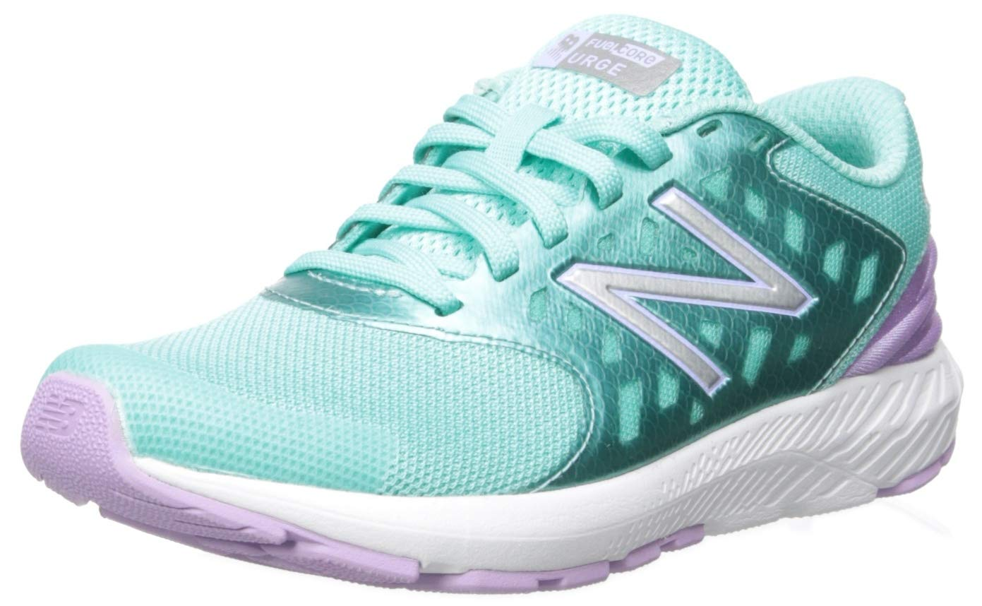 New Balance Girls' Urge V2 FuelCore Running Shoe, Tidepool/Dark Violet, 12 XW US Little Kid by New Balance
