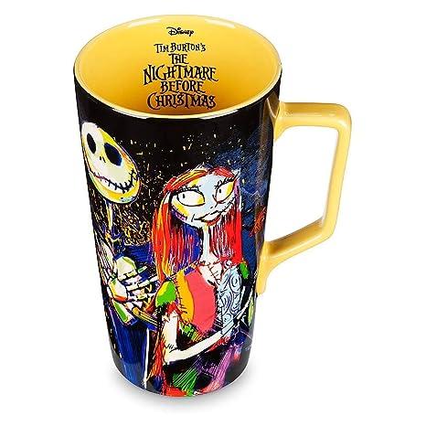 Nightmare Before Christmas Coffee Mug.Disney Tim Burton S Jack Skellington And Sally Nightmare Before Christmas Latte Mug