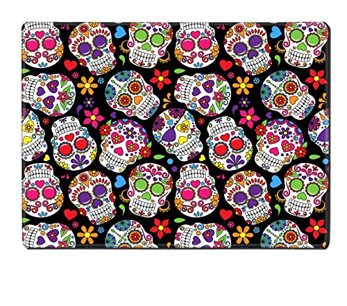 Luxlady Natural Rubber Placemat IMAGE ID: 36626880 Day of the Dead Sugar Skull Seamless Vector Background - Day Of The Dead Clothes Ideas