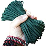 Paracord Deep Emerald Green 100 ft. Hank, 7 Internal Strands, 550 Lb. Break Strength.  Military Survival Parachute Cord for Bracelets & Projects.  Guaranteed Made In US.  Includes 2 eBooks.
