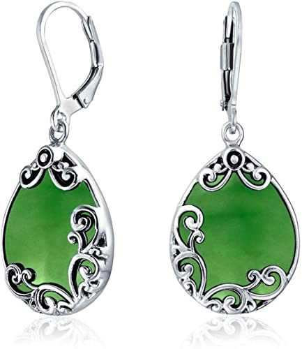 EXTRA LARGE 1 Pair STERLING SILVER EARING EARRING  SCROLL SHAPED BACKS