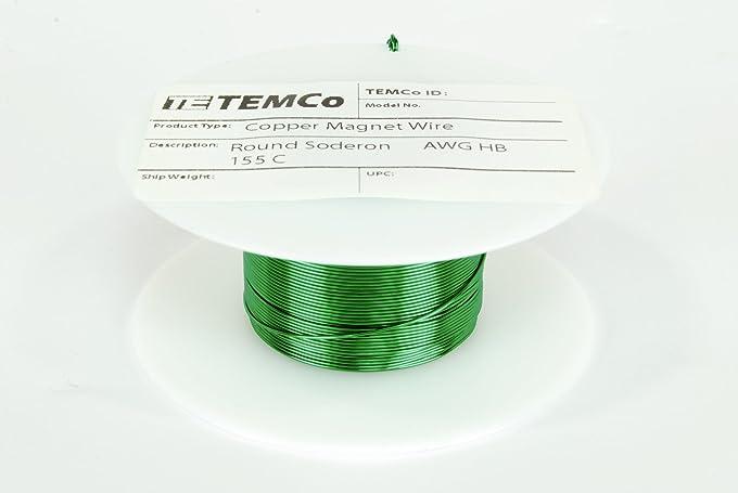 Amazon.com: TEMCo 24 AWG Copper Magnet Wire - 4 oz 198 ft 155°C ...