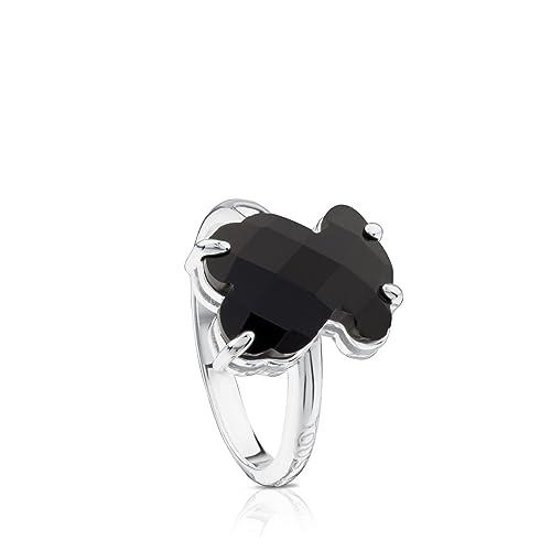 4ff50c1696f2 Anillo TOUS Erma de plata de primera ley con oso de ónix